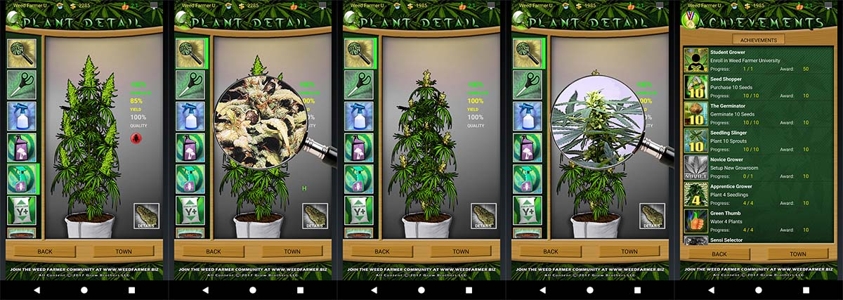 Weed Farmer University Fertilization Screen Shots